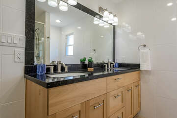 En Suite Bath with Dual Stone Counter Sinks