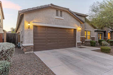 Our one story home includes a garage space for your vehicle.