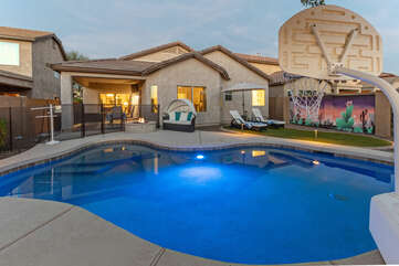 During the cooler months the pool can be heated for an additional fee.