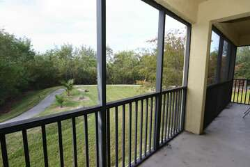 Screened in lanai off of Kitchen area