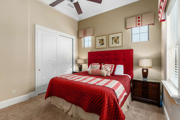 Master suite bedroom 6 located on the second floor has a 55-inch SMART TV