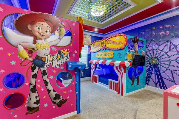 Yee Haw! Kids will create infinite memories in this custom built bedroom
