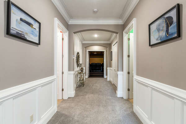 Hallway that leads to the kids bedrooms