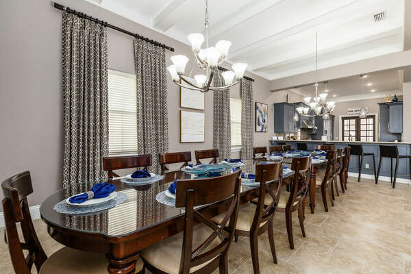 The kitchen flows beautifully with the formal dining area