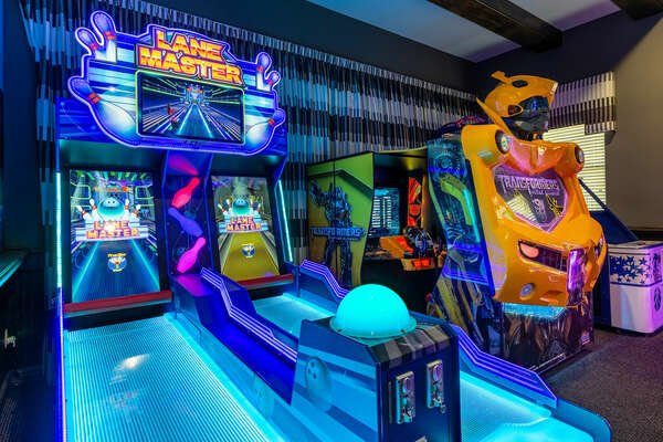 Work on your bowling skills on the Lane Master arcade