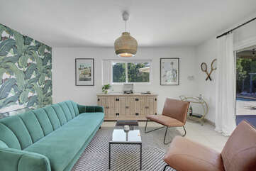 Enjoy the contemporary sitting room.