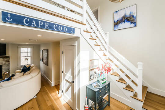 Entrance to Oscar By The Sea - 74 E Bay View Road Dennis Cape Cod - New England Vacation Rentals