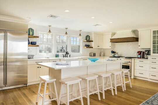 Gourmet kitchen with extra seating - 74 E Bay View Road Dennis Cape Cod - New England Vacation Rentals