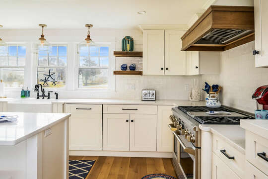 Lots of cabinet space and everything you need to cook amazing meals for your family - 74 E Bay View Road Dennis Cape Cod - New England Vacation Rentals