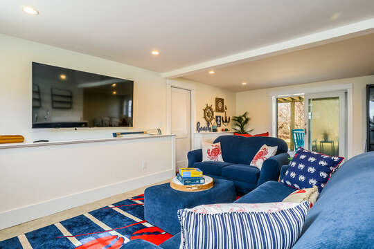 Large screen TV - 74 E Bay View Road Dennis Cape Cod - New England Vacation Rentals