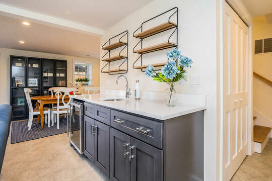 Wet Bar lower level - 74 E Bay View Road Dennis Cape Cod - New England Vacation Rentals