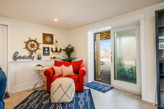 Extra seating in lower level - 74 E Bay View Road Dennis Cape Cod - New England Vacation Rentals