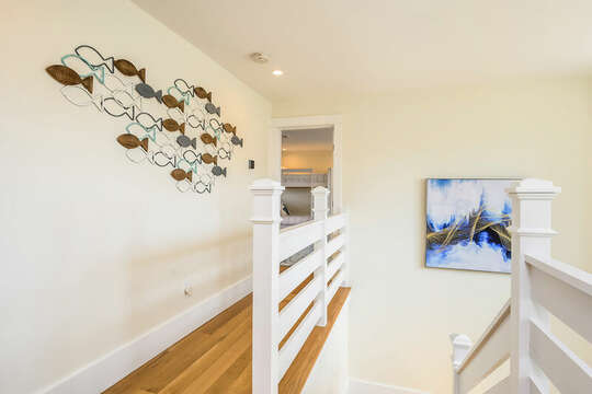 Staircase to upper level -74 E Bay View Road Dennis Cape Cod - New England Vacation Rentals