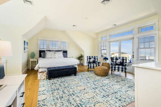 Upper Level Master - Bedroom #3 - King Bed - 74 E Bay View Road Dennis Cape Cod - New England Vacation Rentals