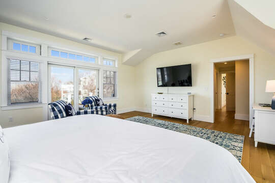 King Bedroom #3 with TV - 74 E Bay View Road Dennis Cape Cod - New England Vacation Rentals