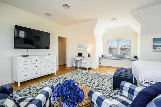 Deck for remote work or learning in upper level King Bedroom - 74 E Bay View Road Dennis Cape Cod - New England Vacation Rentals