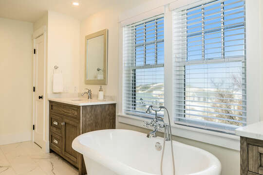 Soaking tub ensuite to Bedroom #3 - 74 E Bay View Road Dennis Cape Cod - New England Vacation Rentals