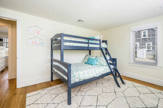 Main Level - Bedroom #2 - Twin and Full Bunkbed - 74 E Bay View Road Dennis Cape Cod - New England Vacation Rentals