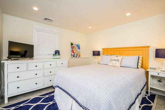Queen Bed with TV in Bedroom #5 - 74 E Bay View Road Dennis Cape Cod - New England Vacation Rentals