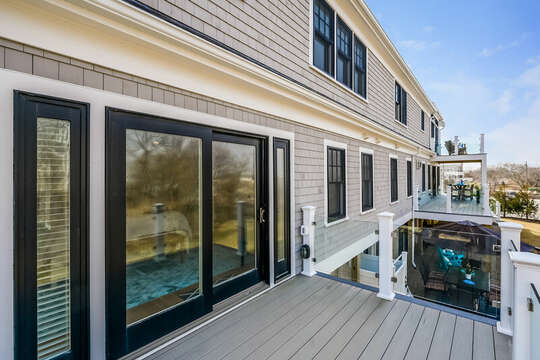 Private deck off of Bedroom #1 - 74 E Bay View Road Dennis Cape Cod - New England Vacation Rentals