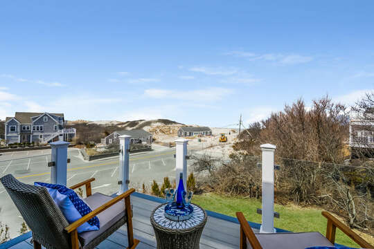 View from deck off the upper level King Bedroom - 74 E Bay View Road Dennis Cape Cod - New England Vacation Rentals