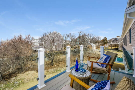 Comfy furniture to watch the sun rise and set - 74 E Bay View Road Dennis Cape Cod - New England Vacation Rentals