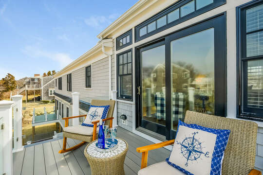 Private deck off Bedroom #3 - 74 E Bay View Road Dennis Cape Cod - New England Vacation Rentals