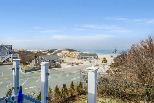 Clear view to beach off of Bedroom #3 private deck - 74 E Bay View Road Dennis Cape Cod - New England Vacation Rentals