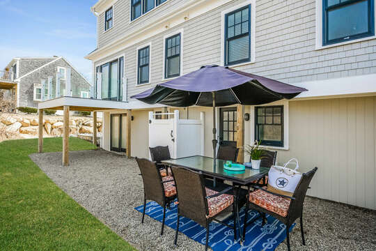More al fresco dining opportunities off lower level - 74 E Bay View Road Dennis Cape Cod - New England Vacation Rentals
