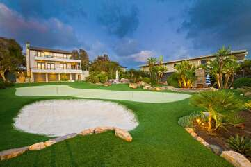 Your personal putting golf course is an amazing find this close to the beach!