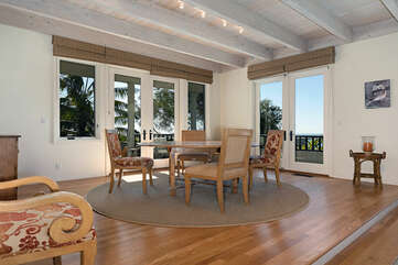 Ocean views while dining in this open dining area off the formal living room.