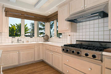 You will enjoy washing dishes from this kitchen with ocean views.