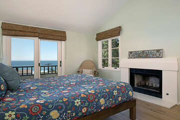 The Presidential Suite has a private and cozy sleeping area. Open the patio doors and let the ocean air lull you to sleep. Please note the beds are made with the Scandinavia Standard style and has two duvets. Fireplace is not available.