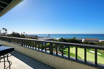 When you are ready to be outside and enjoy the ocean view, relax on this patio outside the Presidential suite.