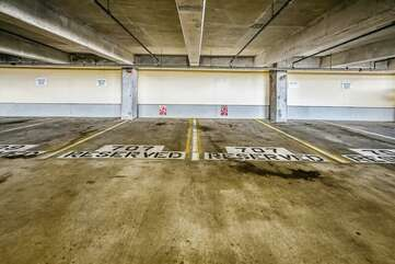 Reserved parking spaces on the 7th level, no need for elevators!