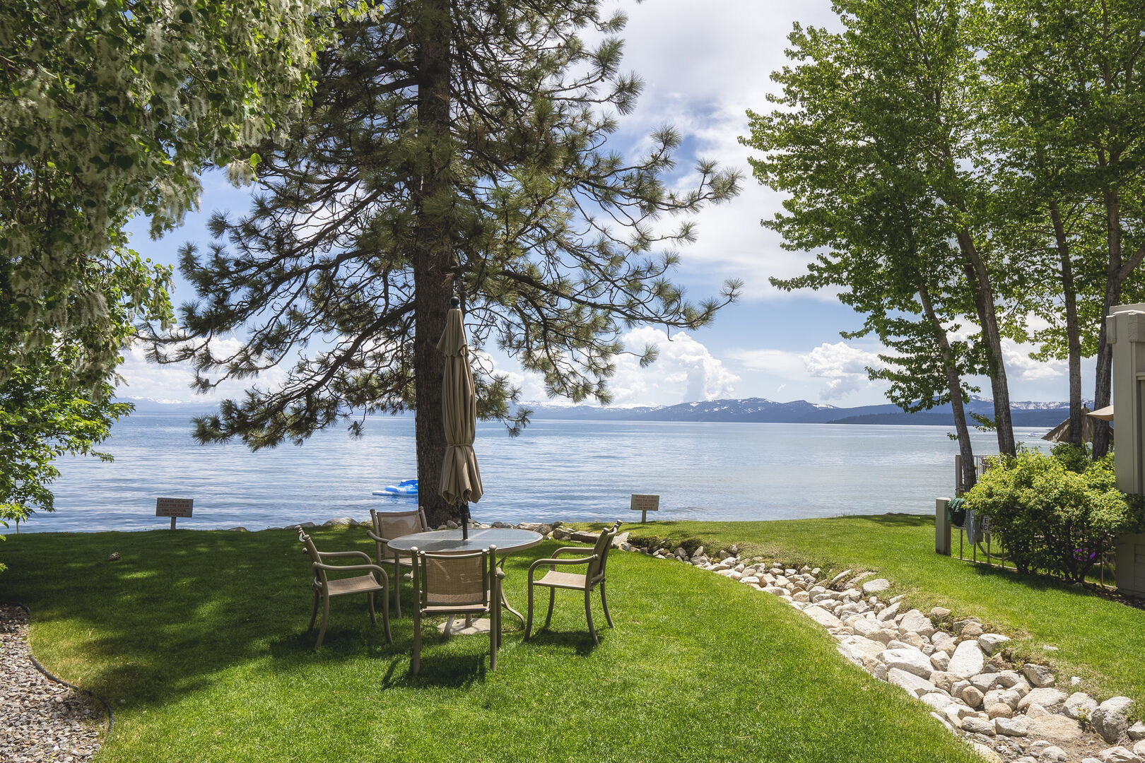 Lake Tahoe Outdoor Seating Area