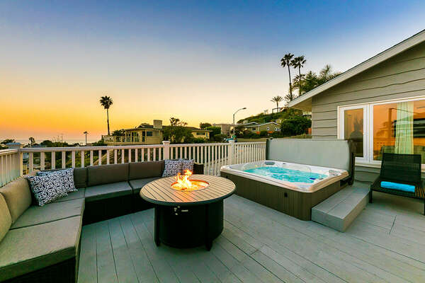 Fire Pit and Jacuzzi