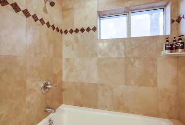 Jack-and-Jill Guest Bath with Tub/Shower