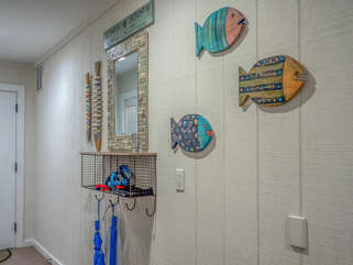 Entryway greets you with a beachy vibe.