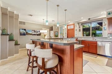 Bar Seating for 2 at the Kitchen in Golf Villas at Mauna Lani A2
