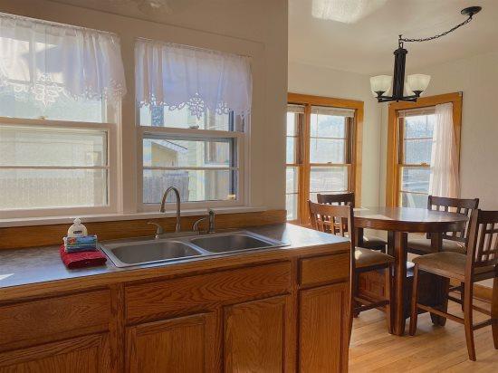 Charming window above the kitchen sink