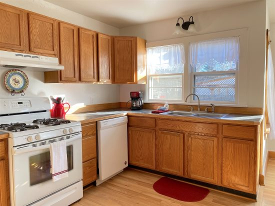 Kitchen with gas range