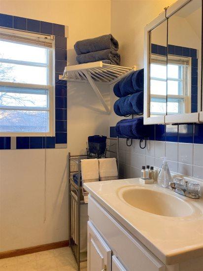 Shared main level bathroom