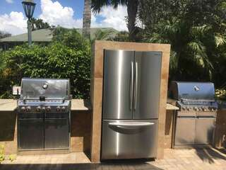 Grill area by pool