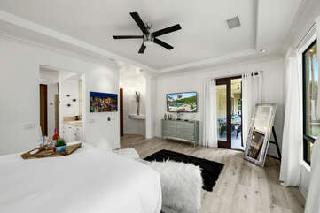 The Master Suite 1 will have you feeling like a Queen or King.