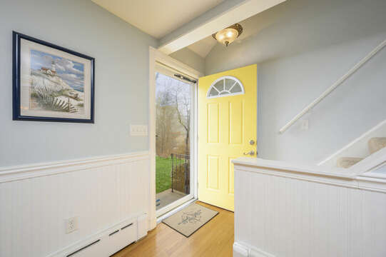 Entry way at 50 Foster Road Hyannis Cape Cod- New England Vacation Rentals