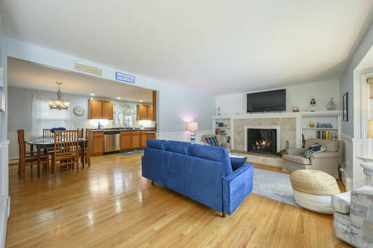 Enjoy this open concept living/dining and kitchen at -50 Foster Road Hyannis Cape Cod- New England Vacation Rentals
