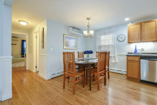 Dining area and hallway to bath and bedrooms-50 Foster Road Hyannis Cape Cod- New England Vacation Rentals