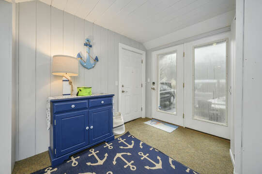Entry into sunroom and garage access-50 Foster Road Hyannis Cape Cod- New England Vacation Rentals