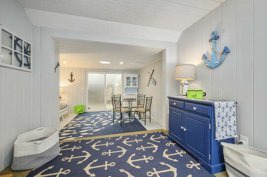 Fun coastal inspired sunroom-50 Foster Road Hyannis Cape Cod- New England Vacation Rentals